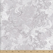 Essential 108 Wide Backing Flourish Cotton Fabric - Grey