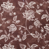 Essential 110 inch Backing Jacobean Vine Cotton Fabric - Brown