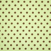 Essential Flannel Brown Dots - Green