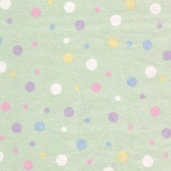 Essential Flannel Multi Dots - Green Pastel