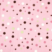 Essential Flannel Multi Dots Pink
