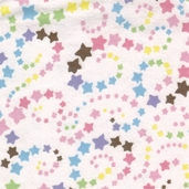 Essential Flannel Star and Swirls - Multi- CLEARANCE