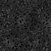 Essentials Climbing Vine Cotton Fabric - Black