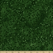 Essentials Climbing Vine Cotton Fabric - Emerald Green