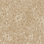 Essentials Climbing Vine Cotton Fabric - Golden Tan