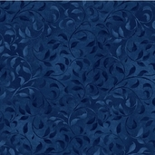 Essentials Climbing Vine Cotton Fabric - True Navy