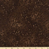 Essentials Climbing Vine Cotton Fabric - Dark Brown