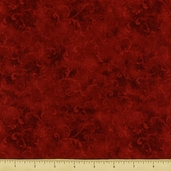 Essentials Scroll Cotton Fabric - Dark Red