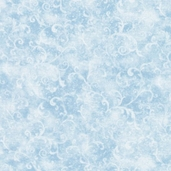 Essentials Filigree Cotton Fabric - Powder Blue