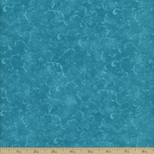 Essentials Filigree Cotton Fabric - Teal