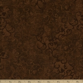Essentials Flannel Scroll Cotton Fabric - Brown