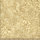 Essentials Flannel Scroll Cotton Fabric - Cream