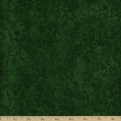 Essentials Flannel Scroll Cotton Fabric - Green