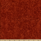 Essentials Flannel Scroll Cotton Fabric - Pumpkin