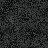Complements Leafy Scroll Cotton Fabric - Black