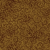 Essentials Leafy Scroll Cotton Fabric - Brown