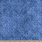 Essentials Petite Dot Cotton Fabric - Medium Denim