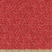 Essentials Petite Dots Cotton Fabric - Red / White