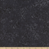 Essentials Scroll Cotton Fabric - Black