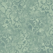 Essentials Scroll Cotton Fabric - Blue Green