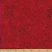 Essentials Scroll Cotton Fabric - Bright Red