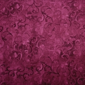 Essentials Scroll Cotton Fabric - Burgundy