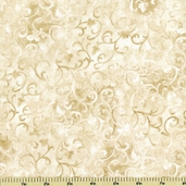 Essentials Scroll Cotton Fabric - Cream