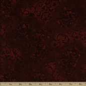 Essentials Scroll Cotton Fabric - Dark Brick Q.1077-89025-389