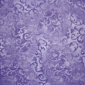 Essentials Scroll Cotton Fabric - Dark Purple