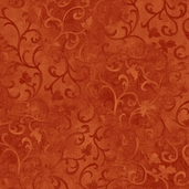 Essentials Scroll Cotton Fabric - Dark Rust