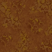 Essentials Scroll cotton Fabric - Espresso Brown