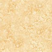 Essentials Scroll Cotton Fabric - Gold