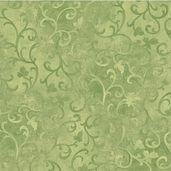 Essentials Scroll Cotton Fabric - Leaf Green