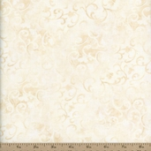 Essentials Scroll Cotton Fabric - Light Ivory