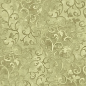 Essentials Scroll Cotton Fabric - Light Moss