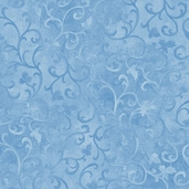 Essentials Scroll Cotton Fabric - Medium Blue