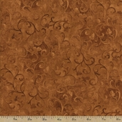Essentials Scroll Cotton Fabric - Medium Brown