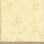 Essentials Scroll Cotton Fabric - Pale Cream