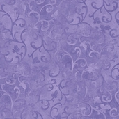 Essentials Scroll Cotton Fabric - Purple
