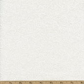 Essentials White on White Vine Cotton Fabric - White