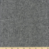 Essex Yarn Dyed Linen Cotton Blend - Black E064-1019 BLACK