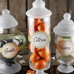 Etched Apothecary Jars