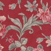 Etchings Cotton Fabrics - Rich Red