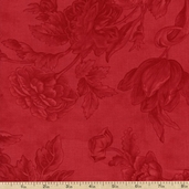 Etchings Floral Cotton Fabric - Red 4061-21