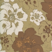 Etchings Large Floral Cotton Fabric - Green- CLEARANCE
