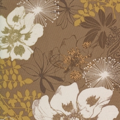 Etchings Lead Cotton Fabric - Brown