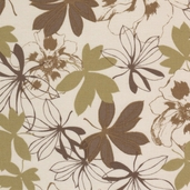 Etchings Leaf Toss Cotton Fabric - Tan