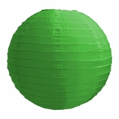 Even Ribbing Round Nylon Lanterns 14 in - Green