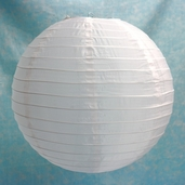 Even Ribbing Round Nylon Lanterns 16 in - White