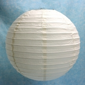 Even Ribbing Round Paper Lanterns 16 in - Beige